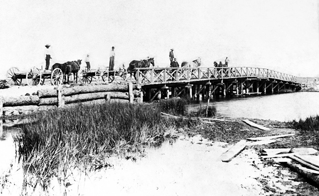 Ocean Avenue Bridge, 1888. The Society's collection of historic photographs numbers more than2,500. A project to digitization and catalogue these invaluable documents of Quogue's rich history is under way.