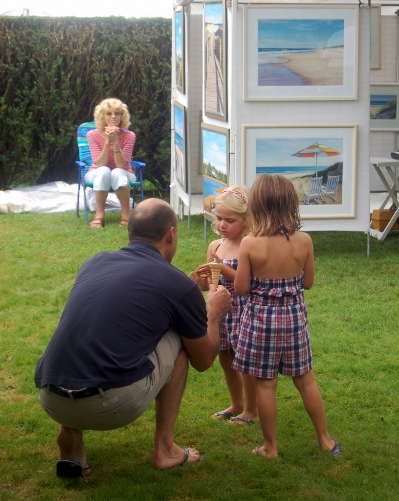 Ok, Daddy, I'll look at more pictures now that I have ice cream. 2012 Art Show & Sale.