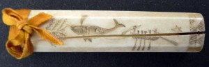 The Society holds a large collection of scrimshaw largely donated by the Gardiner and Post families.