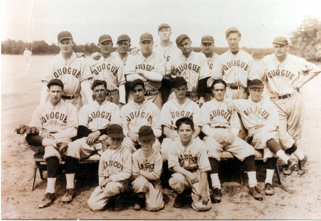 Quogue Fire Department baseball team, ca. 1935