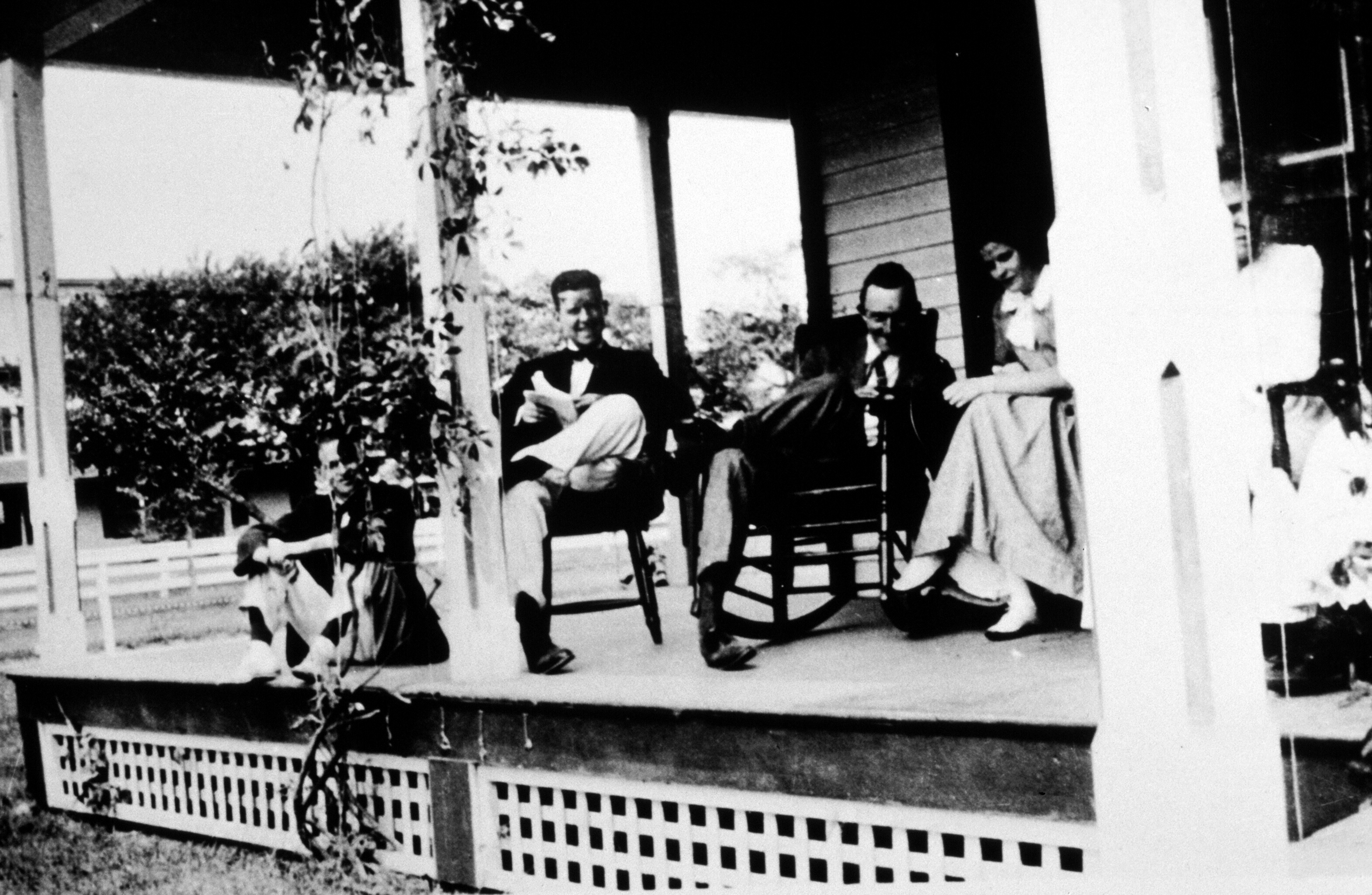 Guests on the porch of the Quogue House porch