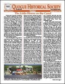 2013 QHS Newsletter Vol4 Issue1 Spring