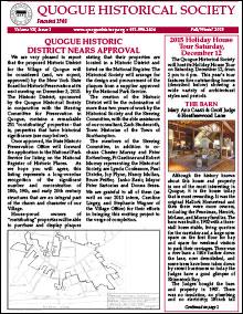 2015 QHS Newsletter Fall Winter 2015
