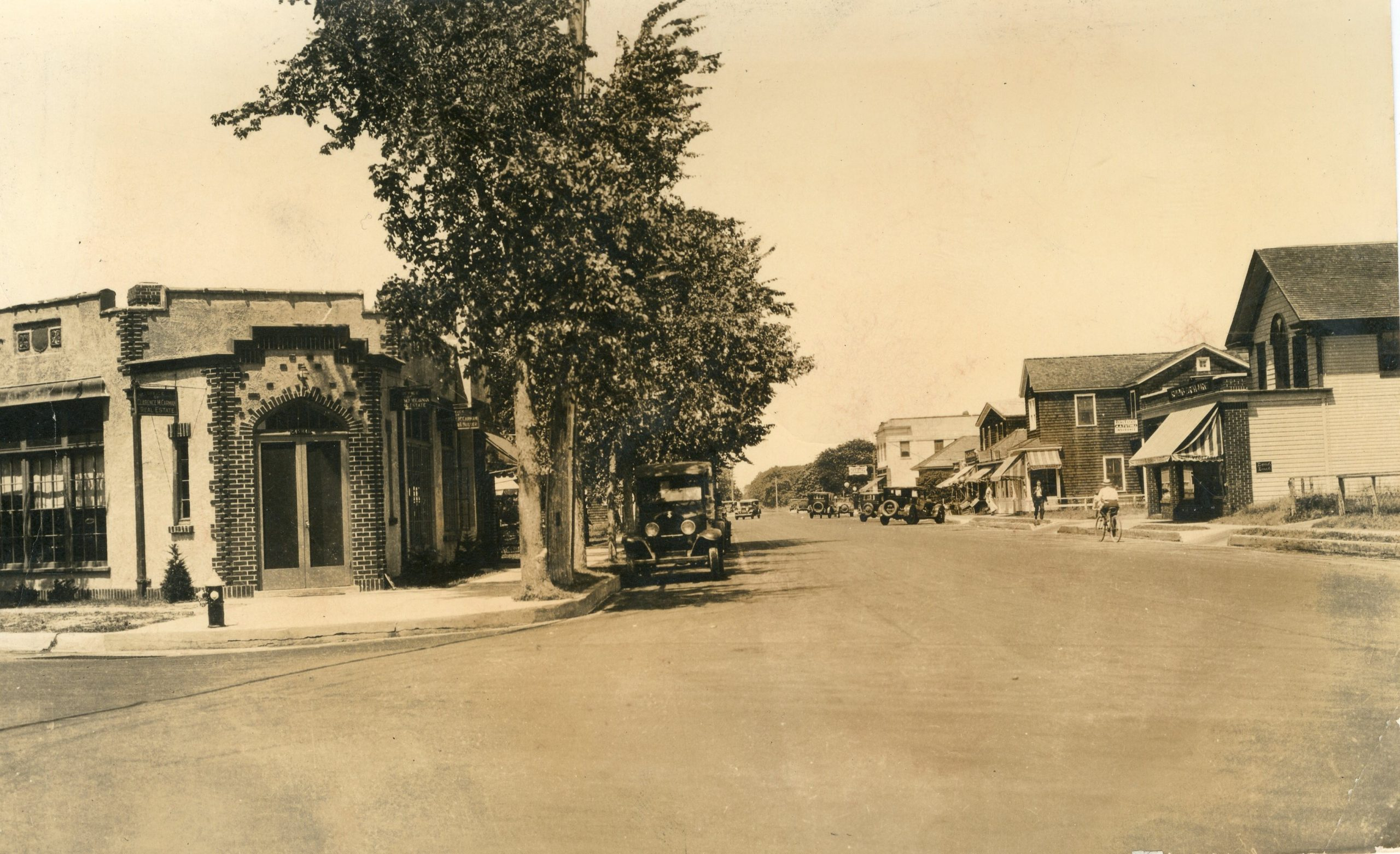 Jessup Avenue, looking north from Quogue Street, c. 1930